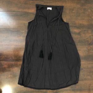 Lou & Grey (Ann Taylor Loft) black tassel dress